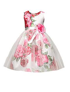 billige Pigekjoler-Pigens Kjole Daglig I-byen-tøj Blomstret, Bomuld Polyester Sommer Uden ærmer Simple Sødt Aktiv Rød