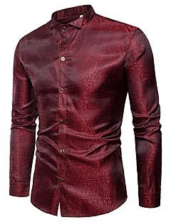 cheap Men's Shirts-Men's Cotton Shirt Print Wing Collar
