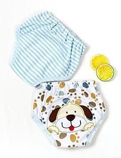 billige Undertøj og sokker til piger-Unisex Undertøj Stribet Tegneserie, Bomuld Alle årstider Blå Grøn Orange Lyserød Gul