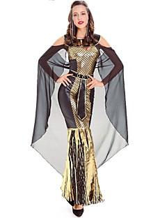 billige Voksenkostymer-Cosplay Cosplay Kostumer Kvinnelig Halloween Karneval Oktoberfest Festival / høytid Halloween-kostymer Gylden Dyremønster