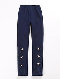 cheap Girls' Clothing-Girls' Solid Pants, Nylon Fall Ordinary Blushing Pink Navy Blue Wine