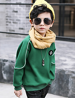 tanie Odzież dla chłopców-Bluza z kapturem / bluza Bawełna Dla chłopców Zima Długi rękaw Prosty Clover Black Khaki