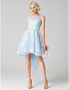 billiga Cocktailklänningar-Balklänning Prydd med juveler Asymmetrisk Spets Cocktailfest / Bal Klänning med av TS Couture®