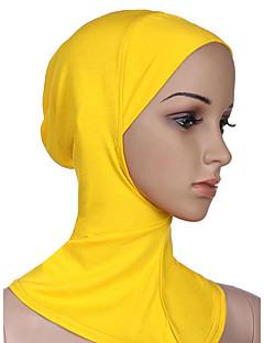 baratos Costumes étnicas e Cultural-Fantasias Egípcias Hijab / Khimar Mulheres Festival / Celebração Trajes da Noite das Bruxas Laranja Café Rosa Vermelho Dourado Sólido