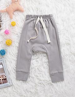 お買い得  女児 パンツ&レギンス-女の子 ソリッド コットン 竹繊維 スパンデックス パンツ 春 活発的 ブルー ピンク グレー