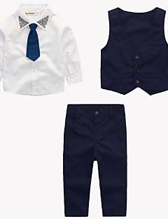 tanie Odzież dla chłopców-Komplet odzieży Bawełna Dla chłopców Impreza Codzienny Wyjściowe Szkoła Jendolity kolor Nadruk Prosty Vintage Urocza Na co dzień Aktywny