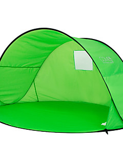 cheap Camping, Hiking & Backpacking-2 persons Tent Single Camping Tent One Room Beach Tent Ultraviolet Resistant Rain-Proof Dust Proof for Camping / Hiking 1000-1500 mm