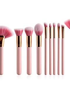 baratos -Conjunto - 10 Pincéis de maquiagem Profissional Suprimentos permanentes do kit de maquiagem Pêlo Sintético / Escova de Fibra Artificial