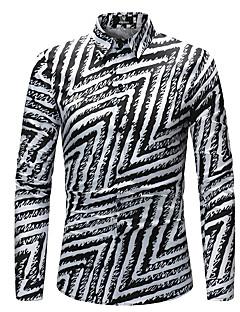 billige Herremote og klær-Skjorte - Regnbue Bohem Herre