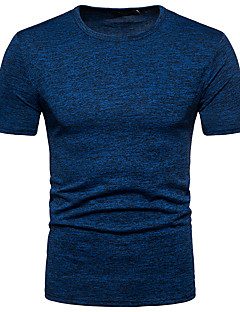 cheap Up to $9.99-Men's Basic Slim T-shirt - Solid Colored Round Neck / Short Sleeve