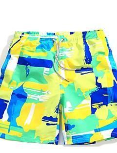 billige Herrebukser og -shorts-Herre Rett Chinos Bukser - Trykt mønster, Geometrisk