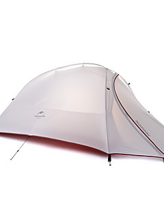 cheap Camping, Hiking & Backpacking-Naturehike 3-4 persons Double Camping Tent One Room Backpacking Tents Quick Dry Windproof Rain-Proof for >3000mm Silica Gel Oxford Cloth