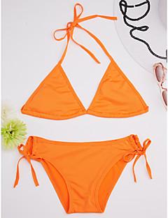 billige Bikinier og damemote-Dame Solid / Sport Grime Rosa Vin Mørk Rosa Bikini Badetøy - Ensfarget En Størrelse / Uten bøyle / Sexy