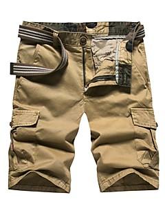 billige Herrebukser og -shorts-Herre Normal Enkel Mikroelastisk Rett Chinos Bukser, Medium Midje Bomull Ensfarget Sommer