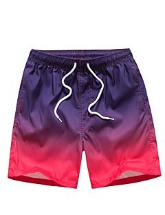 billige Herrebukser og -shorts-Herre Normal Enkel Uelastisk Rett Chinos Bukser, Medium Midje POLY Fargeblokk Sommer