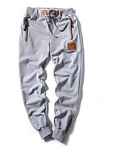 billige Herrebukser og -shorts-Herre Bomull / Lin / Bambus Fiber Harem Bukser Ensfarget