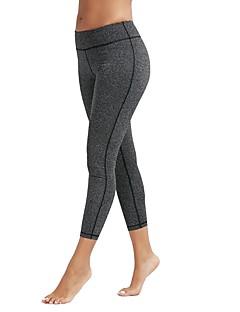billiga Träning-, jogging- och yogakläder-Dam Yoga byxor - Blå, Mörkgrå, Roströd sporter Hög midja Cykling Tights / Leggings Sportkläder Yoga Elastisk