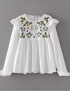 billige Bluse-Dame-Blomstret Vintage Bluse