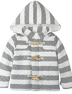 billige Babytøj-Baby Pige dun- og bomuldsforet Daglig Geometrisk, Polyester Forår Langærmet Simple Lyserød Lysegrå