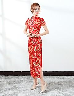 tanie Etniczne & Cultural Kostiumy-Cosplay Sukienki Sukienka typu A-Line Sukienka ołówkowa Kostium imprezowy Damskie Festiwal/Święto Kostiumy na Halloween Fuschia Pink Red