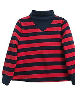 billige Hættetrøjer og sweatshirts til piger-Pige Hættetrøje og sweatshirt Daglig Stribet, Polyester Forår Langærmet Simple Rød