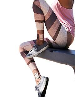 זול -בגדי ריקוד נשים מכנסי יוגה ספורט צבעים מרובים טייץ רכיבה על אופניים כושר גופני לבוש אקטיבי מאמן, יוגה, ייבוש מהיר סטרצ'י (נמתח)