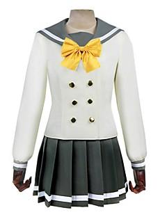 """billige Anime Kostymer-Inspirert av Elsker live Anime  """"Cosplay-kostymer"""" Cosplay Klær Annen Langermet Halsklut / Topp / Skjørte Til Herre / Dame"""