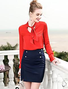 billige Dametopper-Grime Skjorte Dame - Ensfarget, Grunnleggende Arbeid