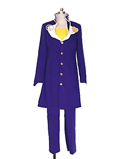 baratos Fantasias Anime-Inspirado por Bizarre Adventure JoJo Fantasias Anime Fantasias de Cosplay Ternos de Cosplay Outro Manga Longa Casaco / Blusa / Calças Para Homens / Mulheres