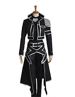 """billige Anime cosplay-Inspirert av Sword Art Online SAO Kirito Swordman Cosplay Anime  """"Cosplay-kostymer"""" Cosplay Klær Annen Langermet Frakk Topp Bukser"""