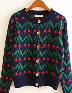 baratos Suéteres de Mulher-Mulheres Manga Longa Carregam - Floral, Estampado / Primavera / Outono