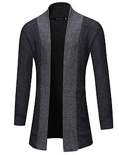 tanie Męskie swetry i swetry rozpinane-Męskie Rozpinany Solid Color Długi rękaw