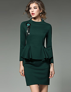 billige Minikjoler-Dame Sofistikerede Gade Skede Kjole - Ensfarvet, Tunika Mini