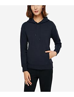 tanie Damskie bluzy z kapturem-Damskie Prosty Bluza z Kapturem - Jendolity kolor
