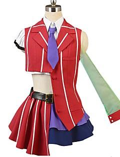 """billige Anime cosplay-Inspirert av Programmene Frontier Cosplay Anime  """"Cosplay-kostymer"""" Cosplay Klær Annen Kortermet Trøye Topp Skjørte Sløyfe Mer Tilbehør"""