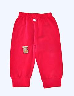 billige Bukser og leggings til piger-Unisex Bukser Daglig Sport Ensfarvet, Bomuld Forår Efterår Langærmet Simple Orange Rød Lyserød Grå Rosa