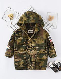 preiswerte Tops für Babys-Baby Jungen Bluse Alltag Solide Druck Baumwolle Frühling Herbst Langarm Einfach Freizeit Armeegrün