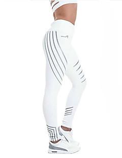 billige Løbetøj-Dame Løbetights Reflekterende, Svedreducerende, Åndbarhed Tights Yoga / Løb Polyester Hvid / Sort M / L / XL