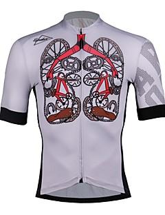 billige Sykkelklær-SPAKCT Herre Sykkeljersey - Grå Sykkel Jersey, Fort Tørring