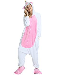 billige Kigurumi-Monster Pegasus Enhjørning Onesie-pysjamas Kostume Flannelstoff Hvit Cosplay Til Voksne Pysjamas med dyremotiv Tegnefilm Halloween