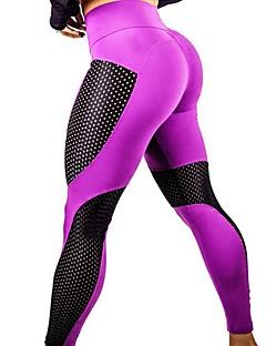 זול -בגדי ריקוד נשים טלאים מכנסי יוגה - שחור, כחול, פוקסיה ספורט גיאומטרי טייץ רכיבה על אופניים כושר גופני לבוש אקטיבי מאמן, יוגה, ייבוש מהיר
