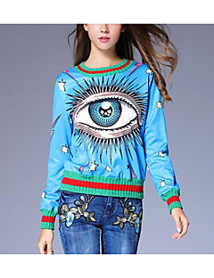 tanie Damskie bluzy z kapturem-Damskie Przesadny Szczupła Bluza dresowa - Geometric Shape / Kolorowy blok / Wiosna