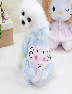 billiga Hundkläder-Hund Huvtröjor Hundkläder Djur Blå Rosa 100% Korall Fleece Kostym För husdjur One Piece