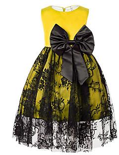 Χαμηλού Κόστους Πώληση-Κορίτσια Φόρεμα Βαμβάκι Πολυεστέρας Μονόχρωμο Καθημερινά Καλοκαίρι Αμάνικο Απλός Θαλασσί Ρουμπίνι Κίτρινο