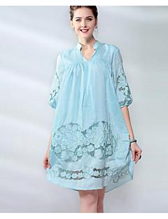 Χαμηλού Κόστους UNE FLEUR-Γυναικεία Θήκη Φόρεμα - Φλοράλ, Κοφτό Λαιμόκοψη V
