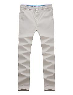 billige Herrebukser og -shorts-Herre Enkel Jeans Bukser Ensfarget Fargeblokk