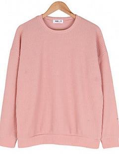 tanie Damskie bluzy z kapturem-Damskie Chic & Modern Bluzy - Jendolity kolor
