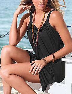 お買い得  レディースドレス-女性用 ビーチ ベーシック シフト ドレス ソリッド ミニ ストラップ ホワイト / 夏