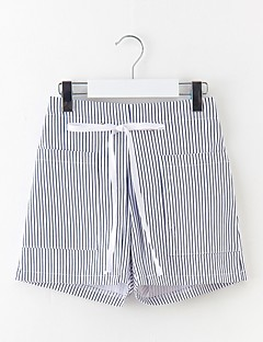 cheap Girls' Clothing-Girls' Daily Striped Shorts Summer Simple Blue Red