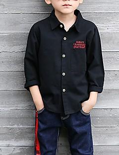 tanie Odzież dla chłopców-Koszula Bawełna Dla chłopców Codzienny Żakard Wiosna Jesień Długi rękaw Prosty White Black